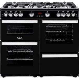 Belling Cookcentre100G Free Standing Range Cooker in Black