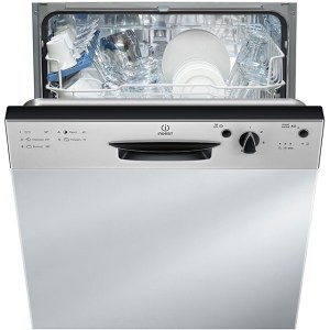 Indesit Eco Time DPG15B1NX Integrated Dishwasher in Silver