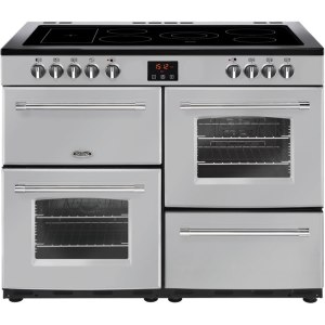 Belling Farmhouse110E Free Standing Range Cooker in Silver