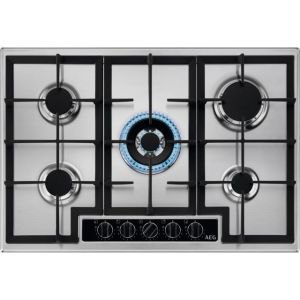 AEG HGB75420YM Integrated Gas Hob in Stainless Steel