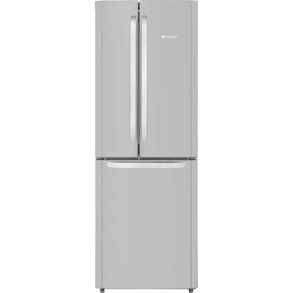 Hotpoint Day1 FFU3D.1X Free Standing Fridge Freezer Frost Free in Stainless Steel