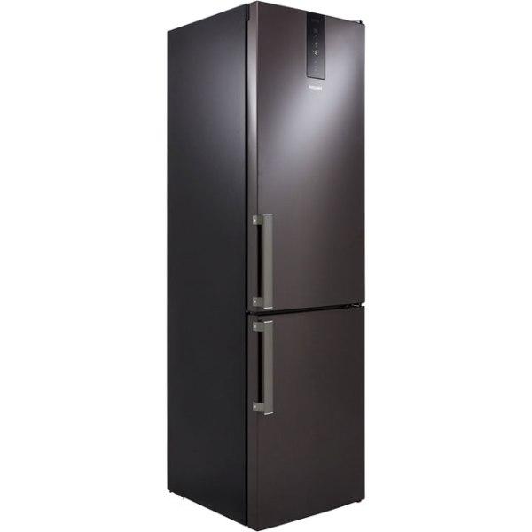 Hotpoint H9T921TKSH Free Standing Fridge Freezer Frost Free in Black / Stainless Steel