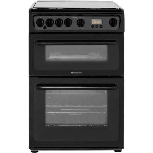 Hotpoint HAGL60K Free Standing Cooker in Black