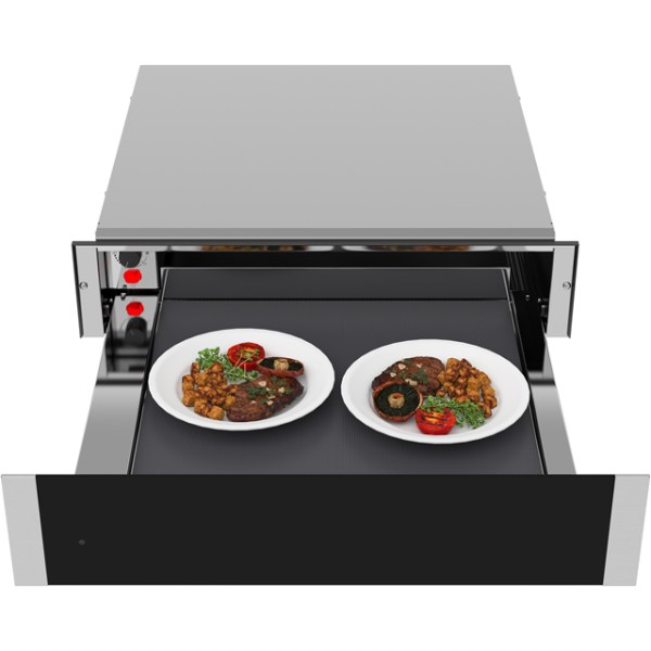Samsung Chef Collection NL20J7100WB Integrated Warming Drawer in Stainless Steel / Black Glass