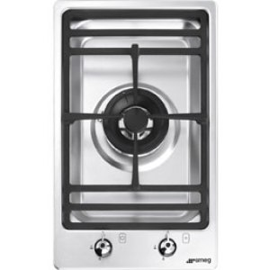 Smeg Classic PGF31G-1 Integrated Gas Hob in Stainless Steel