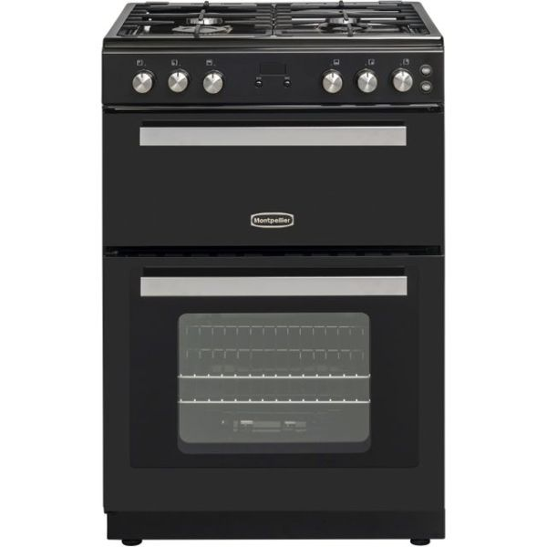 Montpellier RMC61GOK Free Standing Cooker in Black
