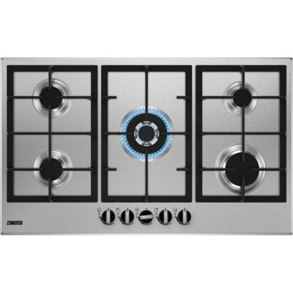 Zanussi ZGNN955X Integrated Gas Hob in Stainless Steel
