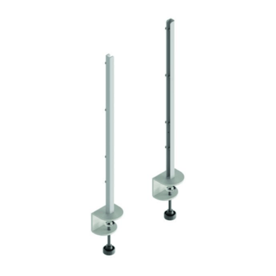 Hygiene Tech Desk mount clamp legs