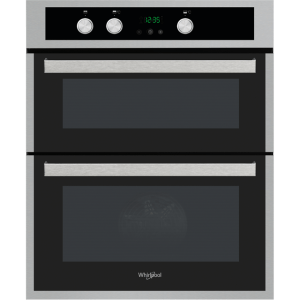 Whirlpool AKL307IX Built Under Double Oven With Feet - Stainless Steel - A/A Rated