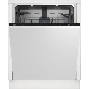 Beko DIN59420D Wifi Connected Fully Integrated Standard Dishwasher - Silver Control Panel with Fixed Door Fixing Kit - A++ Rated