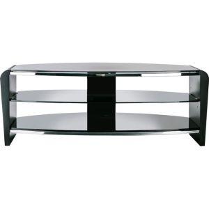 Alphason Francium FRN1100/3BLK/BK 3 Shelf TV Stand - Black