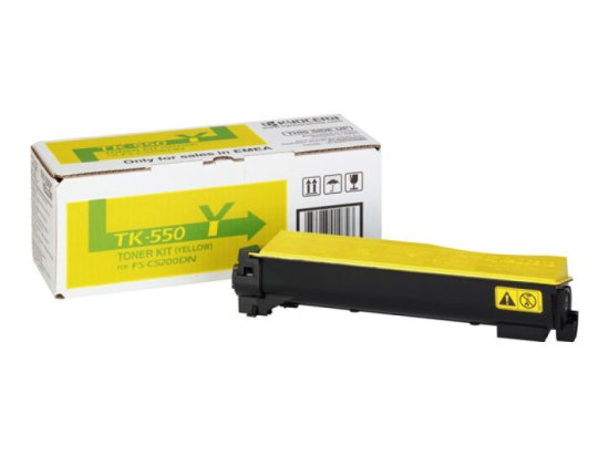 Kyocera TK-550Y Yellow Toner Cartridge