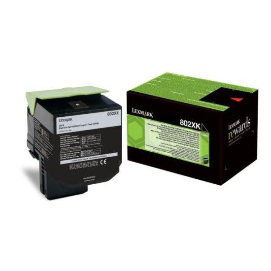 Lexmark 802XK Black Toner Cartridge Extra High Yield