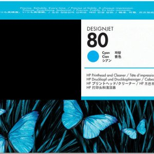 HP 80 Cyan Original Printhead & Printhead Cleaner For use with - D