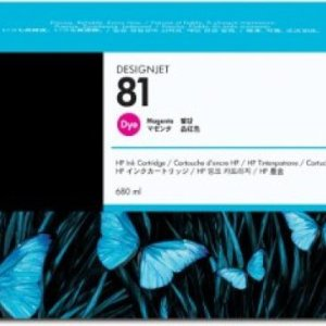 HP 81 Magenta Original Ink Cartridge - Standard Yield 680ml - C4932A