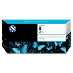HP 81 Cyan Original Printhead & Printhead Cleaner For use with - D