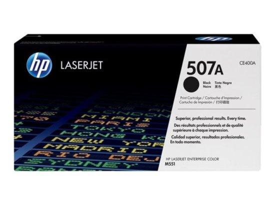 HP 507A Black Toner Cartridge - CE400A