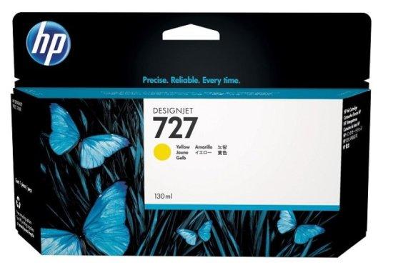 HP 727 Yellow Original Designjet Ink Cartridge - High Yield 300ml - F9