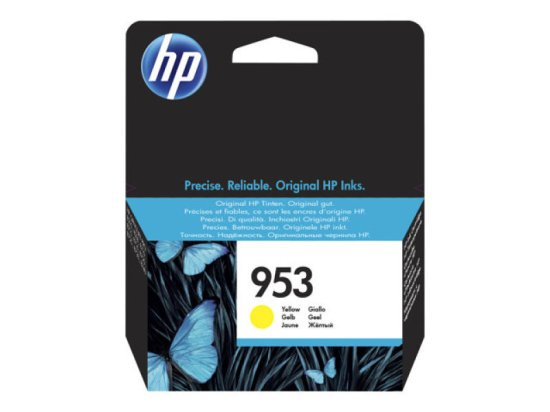 HP 953 Yellow Original Ink Cartridge - Standard Yield 700 Pages - F6U1