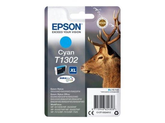 Epson T1302 XHY Cyan Inkjet Cartridge
