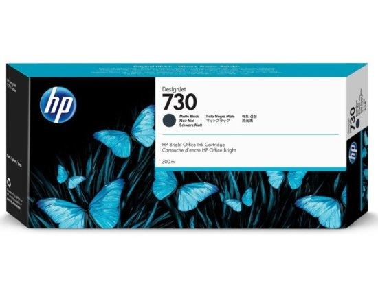 HP 730 Matte Black Original Designjet Ink Cartridge - High Yield 300ml