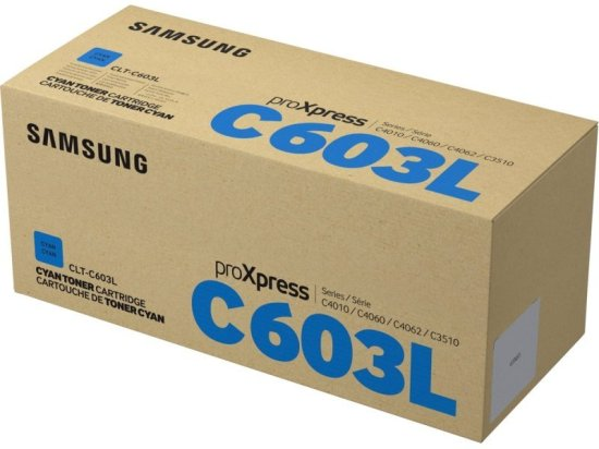 Samsung CLT-C603L Cyan Original Toner Cartridge - High Yield 10000 Pag