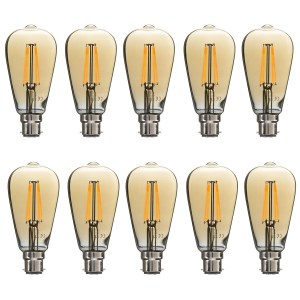 electriQ Smart dimmable Wifi filament bulb with B22 bayonet fitting - 10 Pack