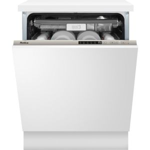 Amica ADI650 Fully Integrated Standard Dishwasher - Silver Control Panel with Fixed Door Fixing Kit - A++ Rated
