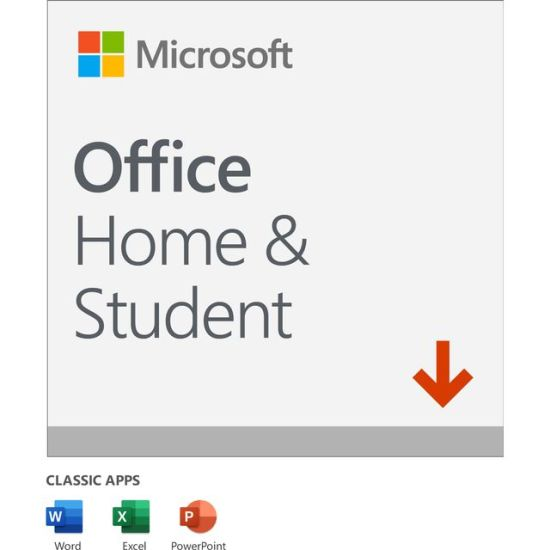 Microsoft Office Home and Student 2019 Digital Download for 1 User - One Time Purchase