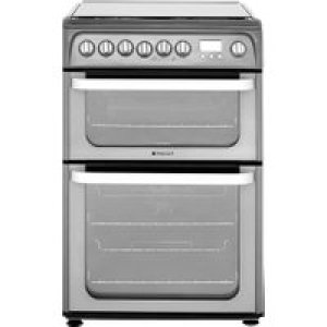 Hotpoint Ultima HUD61GS 60cm Dual Fuel Cooker - Graphite - A/A Rated AO SALE