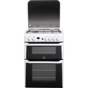 Indesit Advance ID60G2W Gas Cooker - White - A+/A Rated   AO SALE