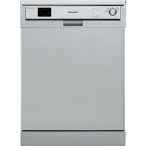 Sharp QW-HX13F472S Standard Dishwasher - Silver - A++ Rated AO SALE