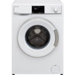 Sharp ES-HFB8143W3-EN 8Kg Washing Machine with 1400 rpm - White - A+++ Rated   AO SALE