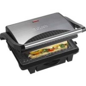 Tower Ceramic Health Grill & Griddle T27009 4 Portions - Black   AO SALE