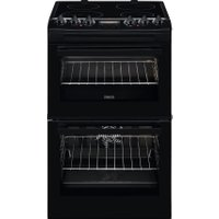 Zanussi ZCV46250BA 55cm Electric Cooker with Ceramic Hob - Black - A/A Rated   AO SALE