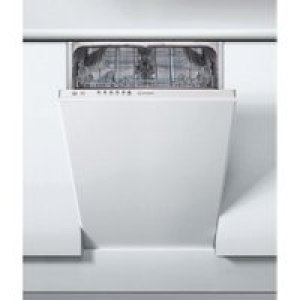 Indesit DSIE2B19UK Fully Integrated Slimline Dishwasher - White Control Panel with Fixed Door Fixing Kit - A+ Rated   AO SALE