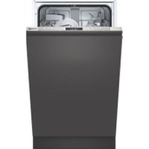 NEFF N50 S875HKX20G Wifi Connected Fully Integrated Slimline Dishwasher - Stainless Steel Control Panel with Fixed Door Fixing Kit - A+ Rated   AO SALE