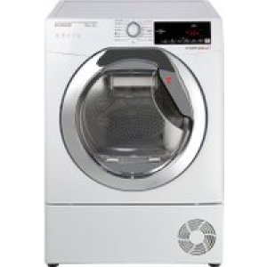 Hoover Dynamic Next DXHY10A2TCE 10Kg Heat Pump Tumble Dryer - White / Chrome - A++ Rated   AO SALE