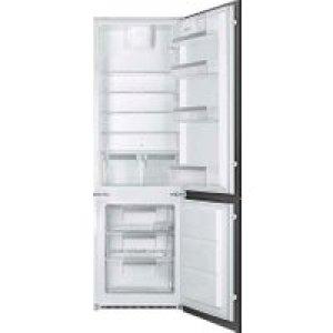 Smeg UKC7280FP1 Integrated 70/30 Fridge Freezer with Sliding Door Fixing Kit - White - A+ Rated   AO SALE