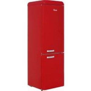 Swan Retro SR11020RN 70/30 Fridge Freezer - Red - A+ Rated   AO SALE