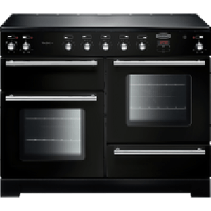 Rangemaster Toledo + TOLP110EIGB/C 110cm Electric Range Cooker with Induction Hob - Black - A/A Rated AO SALE