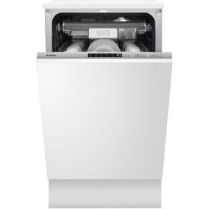 Amica ADI460 Fully Integrated Slimline Dishwasher - Silver Control Panel with Fixed Door Fixing Kit - A++ Rated  AO SALE