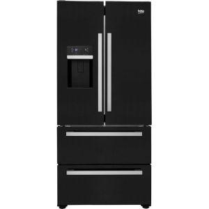 Beko GRNE60520DB American Fridge Freezer - Black - A+ Rated  AO SALE