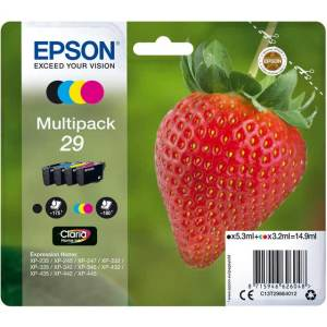 Epson Strawberry Multipack 4-colours 29 Claria Home Ink Cartridge  AO SALE