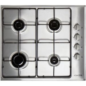 Electra BIGH4SS 58cm Gas Hob - Stainless Steel AO SALE