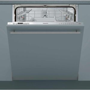 Hotpoint HIO3C26W Fully Integrated Standard Dishwasher - Silver Control Panel with Fixed Door Fixing Kit - A++ Rated  AO SALE