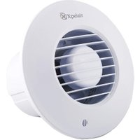 Xpelair DX100BR 4 inch (100mm) Simply Silent DX100B Bathroom Fan-Standard Round, Cool White