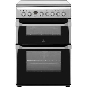 Indesit Advance ID60C2XS Electric Cooker with Ceramic Hob - Stainless Steel - B/B Rated  AO SALE