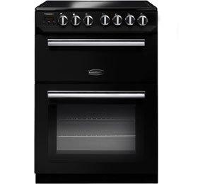 Rangemaster Professional Plus 60 PROP60ECBL/C 60cm Electric Cooker with Ceramic Hob - Black / Chrome - A/B Rated AO SALE