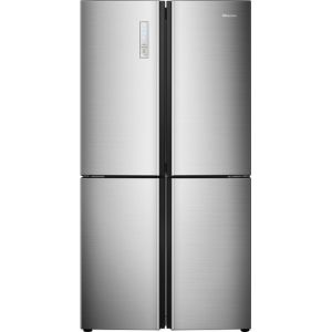 Hisense RQ689N4AC1 American Fridge Freezer - Stainless Steel Effect - A+ Rated  AO SALE